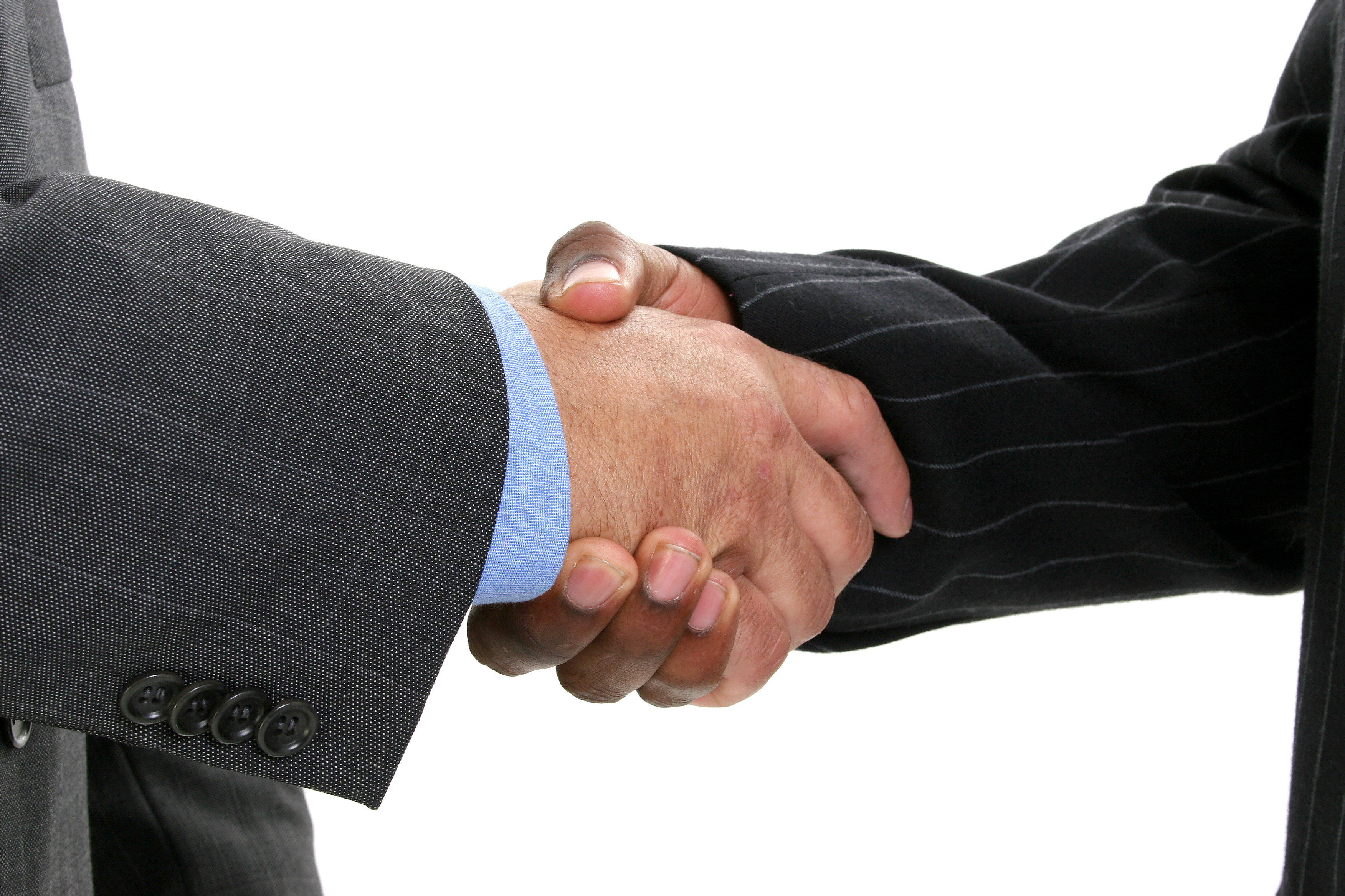 Hand Shake on a due diligence deal